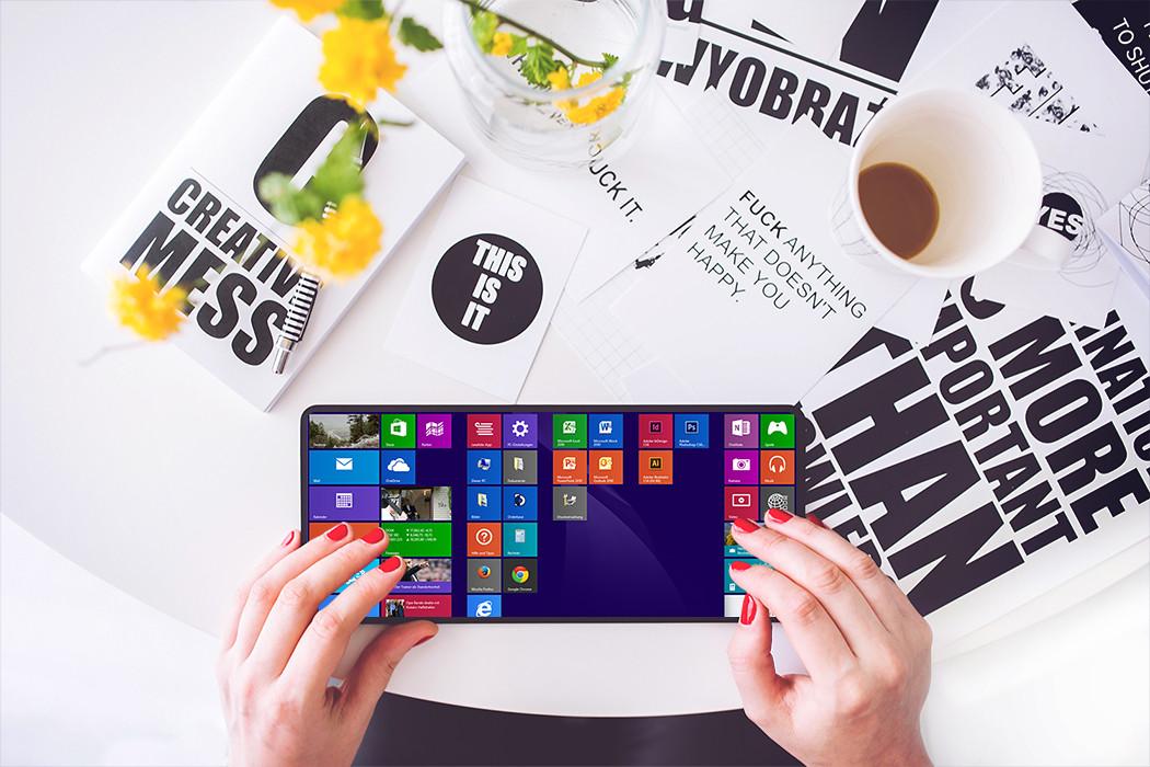 Tastatur mit Windows-Kacheln