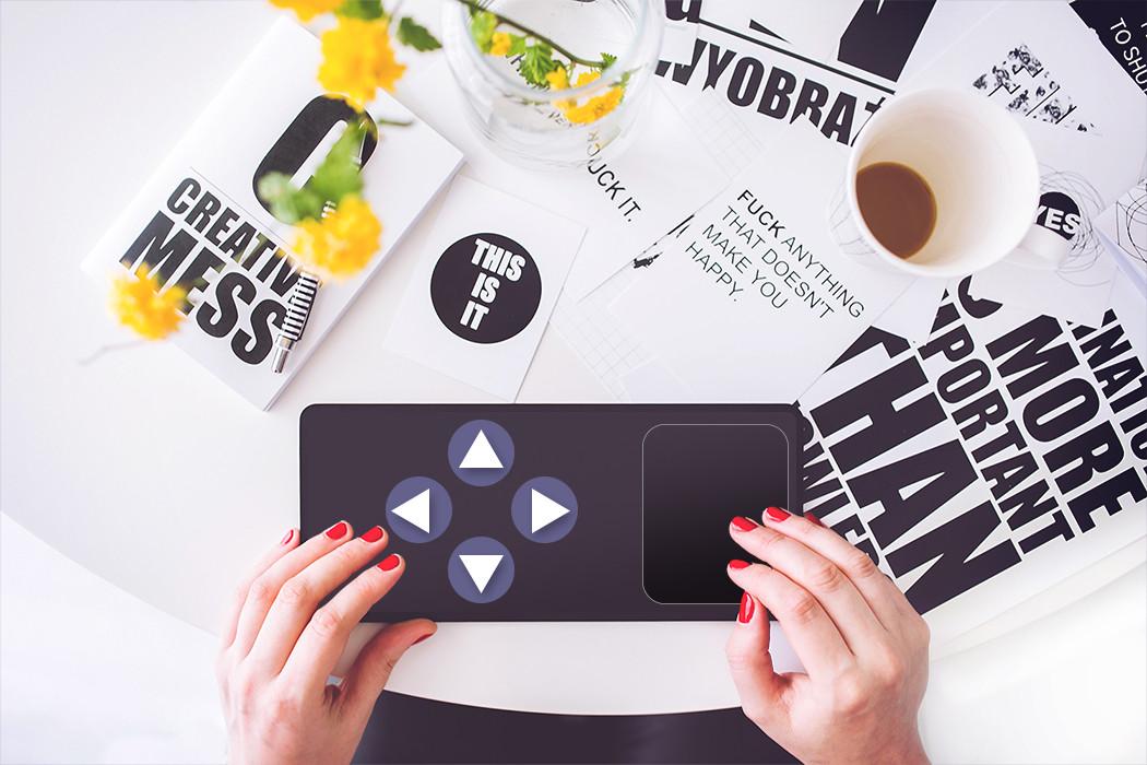Trackpad und Pfeil-Tastatur
