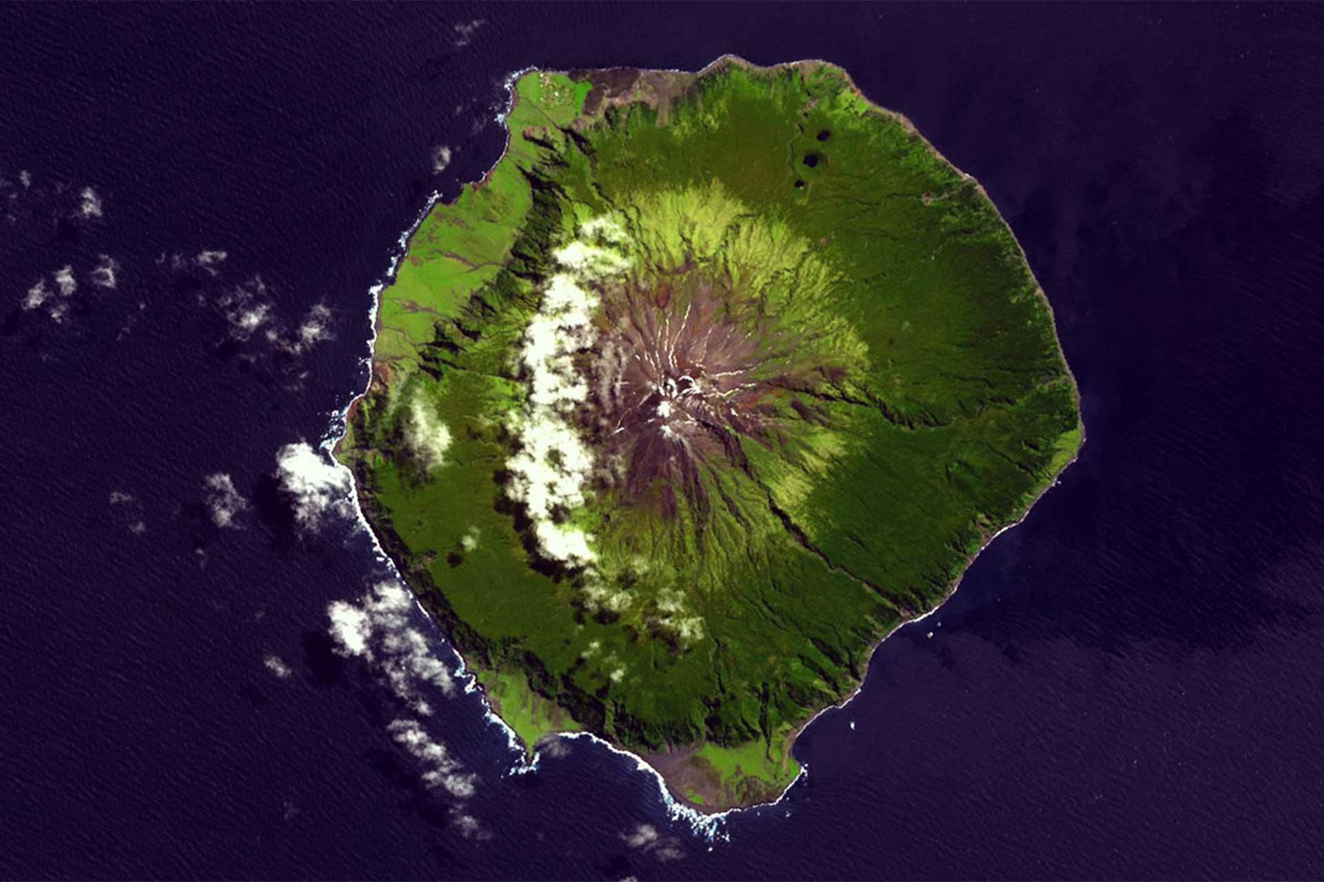 Trstan da Cunha am Ende der Welt